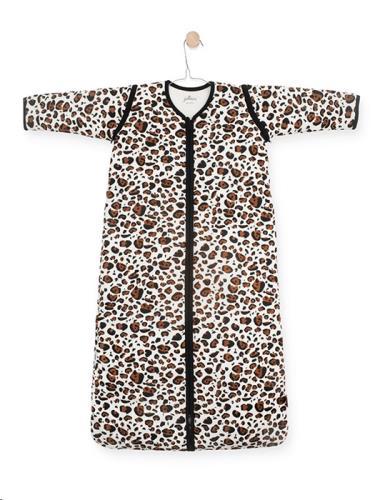 Baby slaapzak 90cm Leopard natural met afritsbare mouw