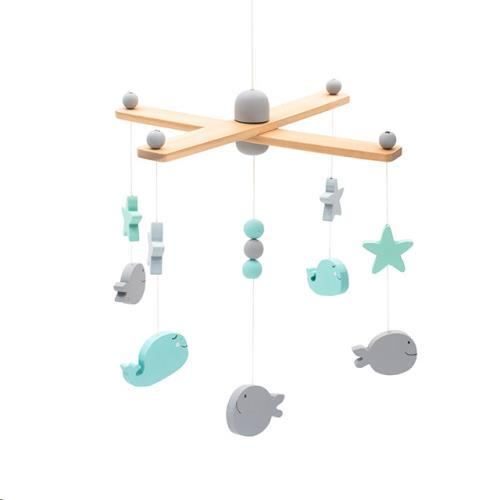 Babymobiel Sea animals grey/white