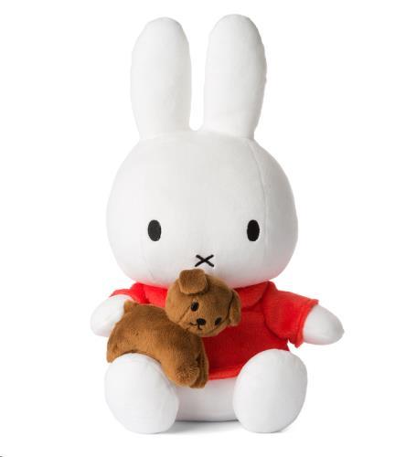 Miffy met Snuffie zittend - 33 cm