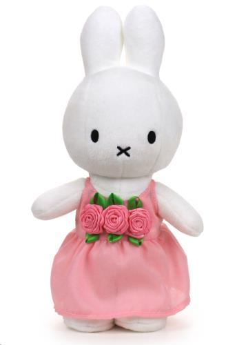 Miffy roze rozen jurk  - 24 cm