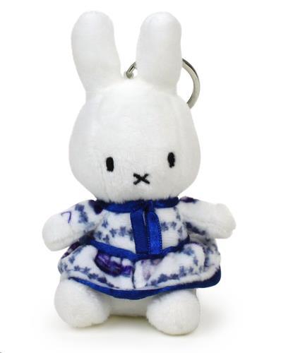 """Miffy delft blauwe jurk sleutelhanger - 10 cm - 4"""""""