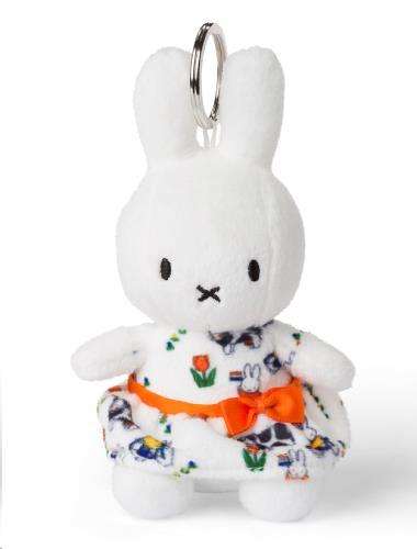 Miffy Hollandse jurk sleutelhanger - 10 cm