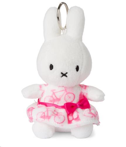 Miffy roze jurk sleutelhanger - 10 cm