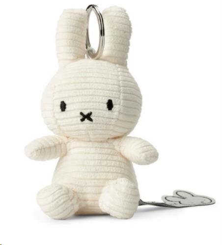 "Corduroy white keychain - 10 cm - 4"""
