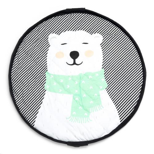 Soft baby speeltapijt - opbergzak Ijsbeer