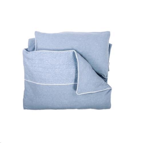 Baby Dekbedovertrek & kussensloop (100x140) CHEVRON DENIM BLUE
