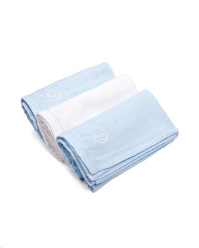 Tetra doekjes verpakt per 3 stuks (60x60cm) Wit/licht blauw