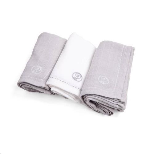 Tetra doekjes verpakt per 3 stuks (60x60cm) Wit/grijs