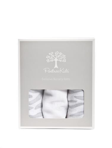 Tetra doekjes verpakt per 3 stuks (60x60cm) Zebra print/wit
