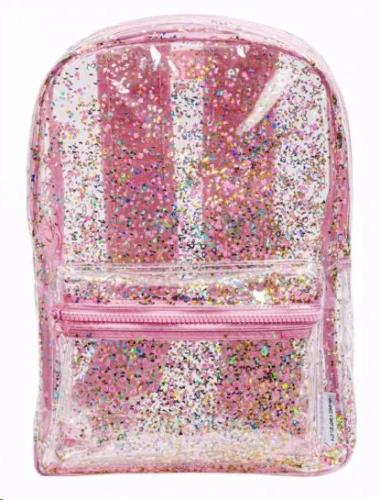 Backpack: Glitter - transparent/pink