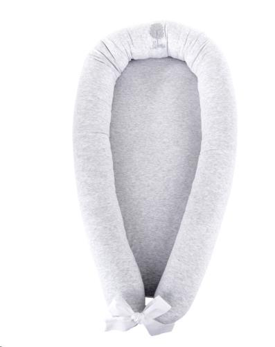 Baby slaapnestje - Jersey Grijs Soft Grey