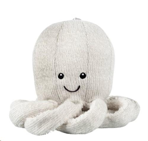 Knuffel Bluetooth spreker - Octopus Olly grey