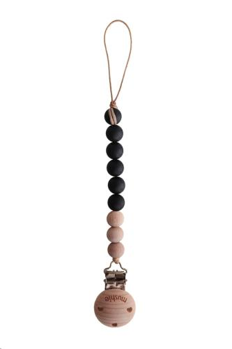 Fopspeenketting CLEO Black/Wood