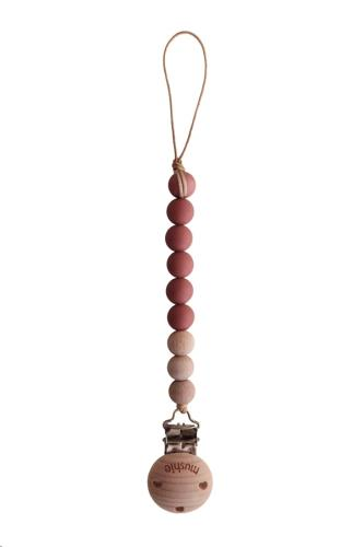 Fopspeenketting CLEO Red/Wood