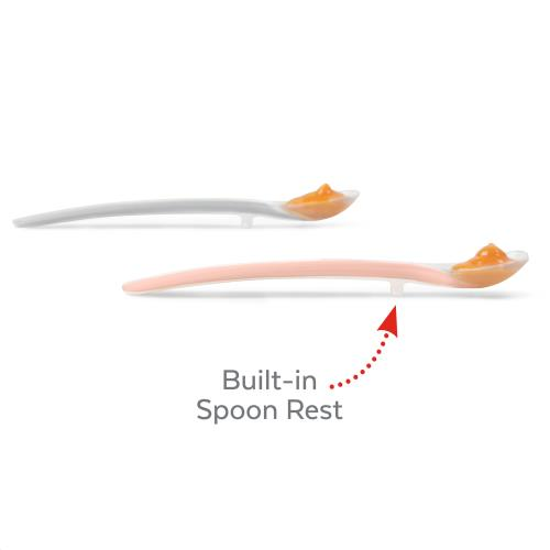 Easy Feed Spoons Grey/Soft Coral