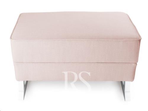 Royal Voetenbank zonder knopen blush pink, white legs