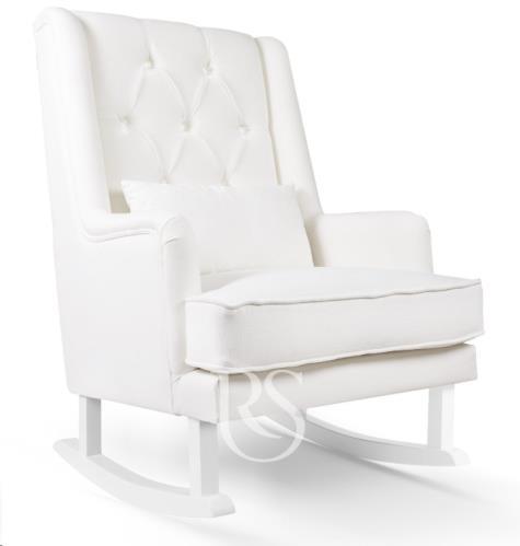 Schommelstoel Crystal Royal Rocker snow white, white legs