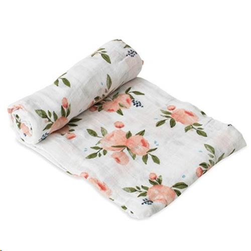 Tetra doek single - Watercolor Roses - One size