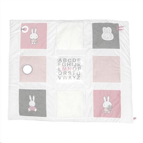 Boxkleed nijntje pink baby rib 85 x 100 cm