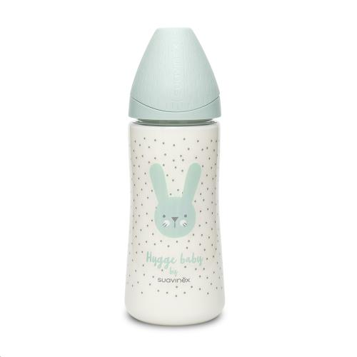HYGGE - Fles - PA - Silic. - +4L - 360ml - Green Rabbits