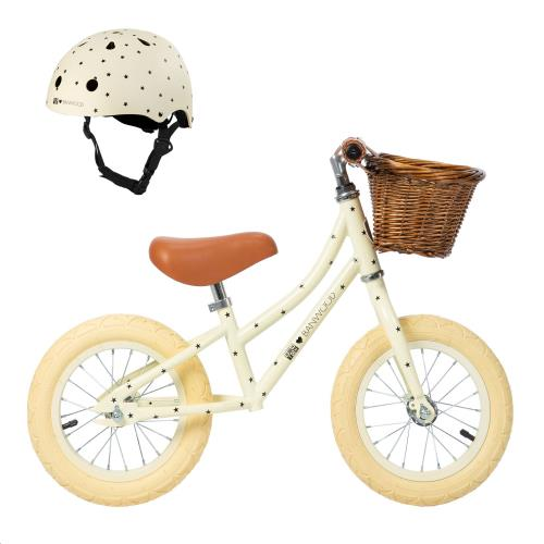 Loopfiets met hellm BONTON BUNDLE R CREAM