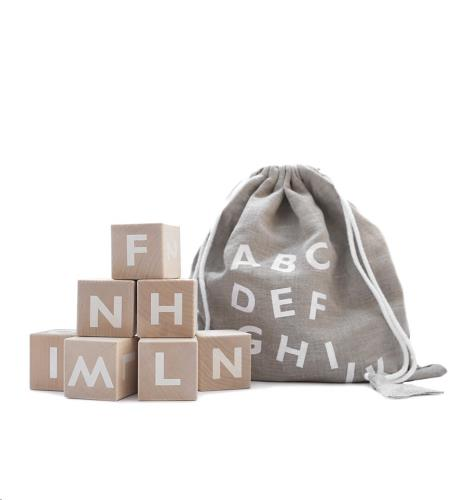 Blokken alfabet - white