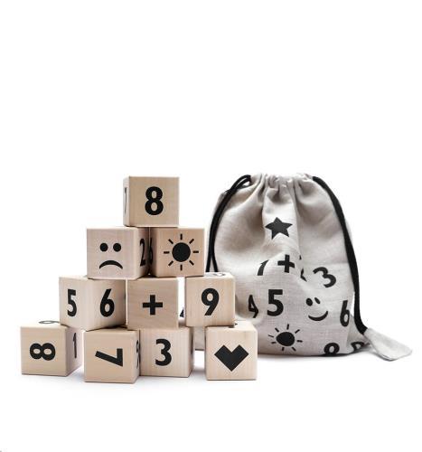 Blokken cijfers - black