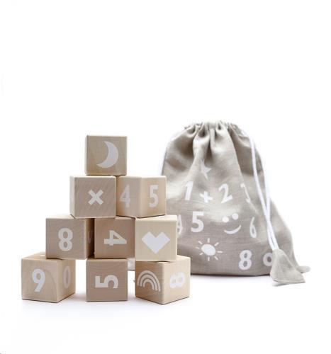 Blokken cijfers - white