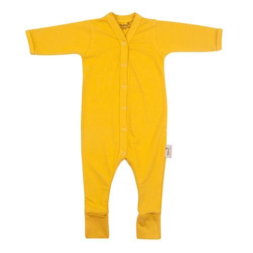 Babypakje lange mouwen met voet 50/56 Ocher