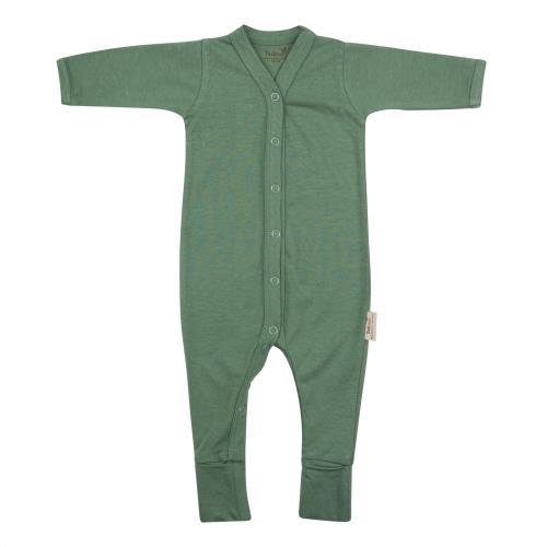 Babypakje lange mouwen met voet 50/56 Aspen Green