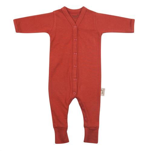 Babypakje lange mouwen met voet 50/56 Rosewood