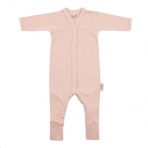 Babypakje lange mouwen met voet 62/68 Misty Rose