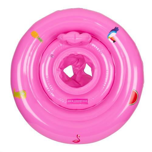 Baby Float print Pink 0-1 jaar