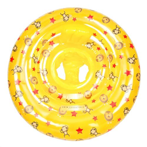Baby Float print Yellow Circus Monkey-Lion-stars 0-1 jaar