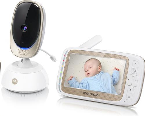 "5.0"" Wifi video baby monitor remote pan scan, digital tilt camera"