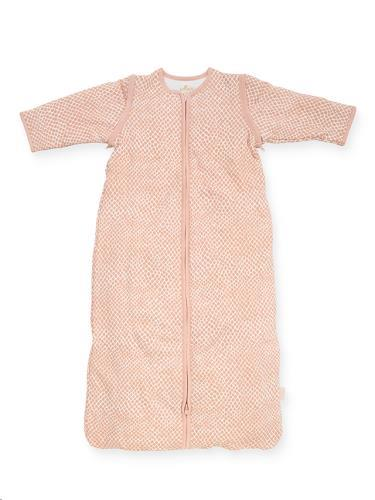 Baby slaapzak 90cm Snake pale pink met afritsbare mouw