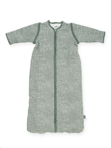 Baby slaapzak 90cm Snake ash green met afritsbare mouw