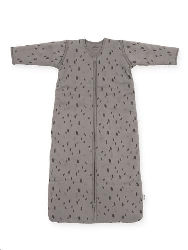 Baby slaapzak 110cm Spot storm grey met afritsbare mouw
