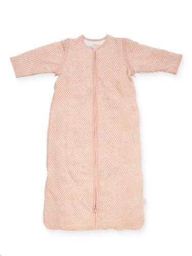 Baby slaapzak 70cm Snake pale pink met afritsbare mouw