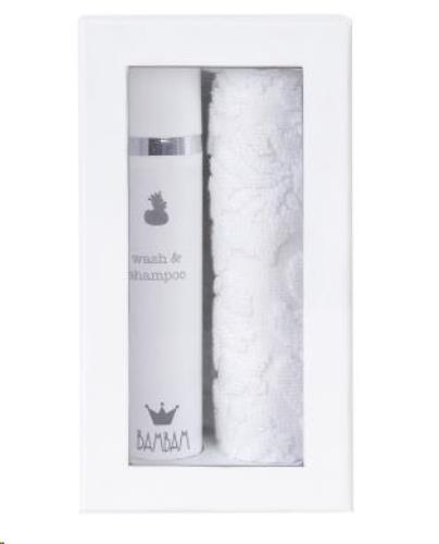 Giftbox - Badset washandje + shampoo