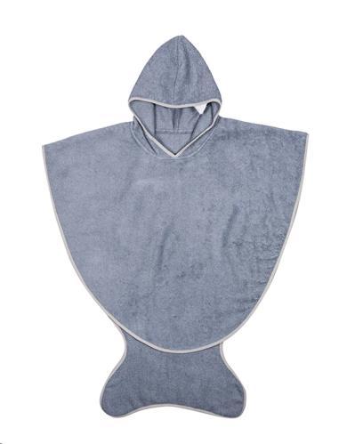 bath cape SLATE BLUE 3-6 YEARS