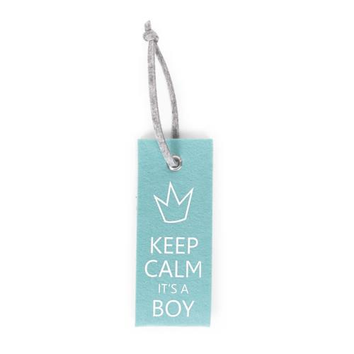 VILTEN DEURHANGER MINT BLAUW KEEP CALM