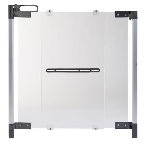PREMIUM SAFETY GATE PLEXI SILVER (74-100cm)