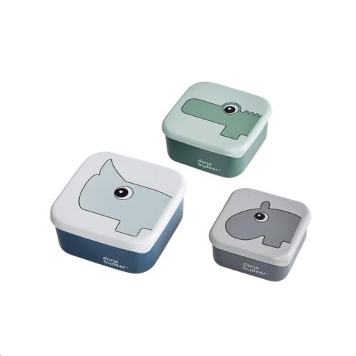 Snackbox set blue 3-delig