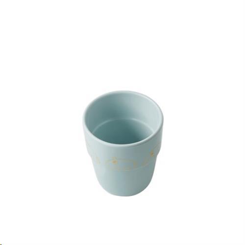 Beker Yummy mug, Contour, gold/blue