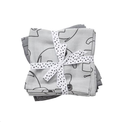 Swaddle 2-pack Contour grey 70x70