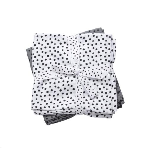 Hydrofiele doeken 2-pack Happy dots grey