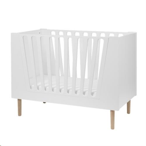 Baby cot, 60 x 120 cm, white