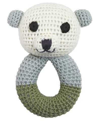 Sally polar bear rattle