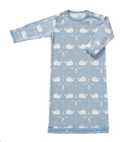 Slaapzak met mouw Whale blue fog size: 0-6 m